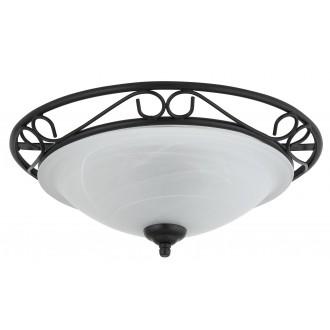 RABALUX 3722   Athen Rabalux mennyezeti lámpa 2x E27 fekete, fehér alabástrom