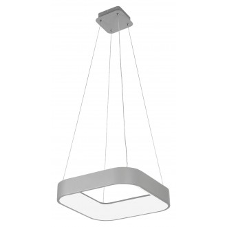 RABALUX 3927   Adeline Rabalux függeszték lámpa négyzet távirányító szabályozható fényerő, állítható színhőmérséklet, Bluetooth, éjjelifény 1x LED 1800lm 3000 <-> 6000K szürke, fehér