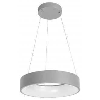 RABALUX 3929   Adeline Rabalux függeszték lámpa kerek távirányító szabályozható fényerő, állítható színhőmérséklet, Bluetooth, éjjelifény 1x LED 1500lm 3000 <-> 6000K szürke, fehér