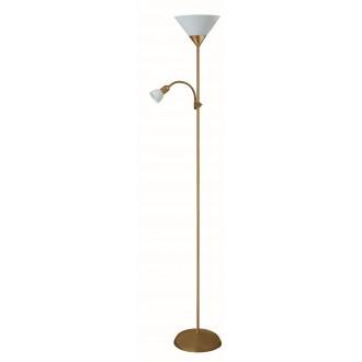 RABALUX 4065 | Action Rabalux álló lámpa 178cm vezeték kapcsoló flexibilis 1x E27 + 1x E14 bronz, fehér