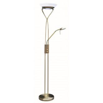 RABALUX 4078 | Gamma Rabalux álló lámpa 174cm fényerőszabályzós kapcsoló flexibilis, szabályozható fényerő 1x R7s 4600lm + 1x G9 370lm 2700K bronz, fehér