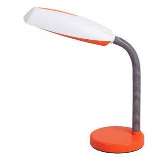 RABALUX 4153 | Dean Rabalux asztali lámpa 35cm kapcsoló flexibilis 1x E27 narancs, fehér, szürke