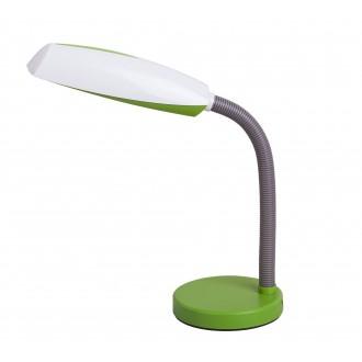 RABALUX 4154 | Dean Rabalux asztali lámpa 35cm vezeték kapcsoló flexibilis 1x E27 zöld, fehér, szürke