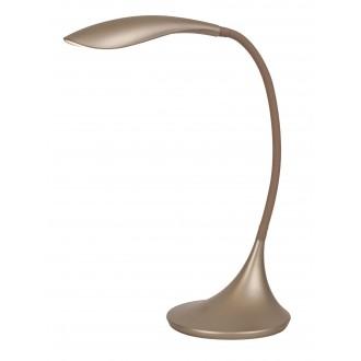 RABALUX 4167 | Dominic Rabalux asztali lámpa 52cm fényerőszabályzós érintőkapcsoló flexibilis, szabályozható fényerő 1x LED 480lm 3000K pezsgő