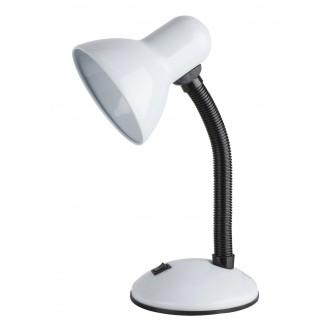 RABALUX 4168 | Dylan Rabalux asztali lámpa 34,5cm kapcsoló flexibilis 1x E27 fehér, fekete