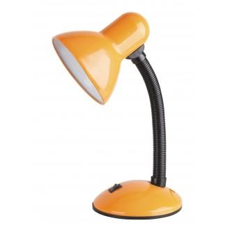 RABALUX 4171 | Dylan Rabalux asztali lámpa 34,5cm kapcsoló flexibilis 1x E27 narancs, fekete, fehér