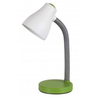 RABALUX 4173 | Vincent Rabalux asztali lámpa 39,5cm vezeték kapcsoló flexibilis 1x E27 400lm 3000K zöld, szürke, fehér
