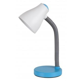 RABALUX 4174 | Vincent Rabalux asztali lámpa 39,5cm vezeték kapcsoló flexibilis 1x E27 400lm 3000K kék, szürke, fehér