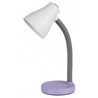 RABALUX 4176 | Vincent Rabalux asztali lámpa 39,5cm vezeték kapcsoló flexibilis 1x E27 400lm 3000K lila, szürke, fehér
