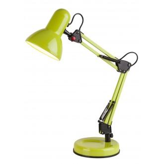 RABALUX 4178 | Samson Rabalux asztali lámpa 49cm vezeték kapcsoló elforgatható alkatrészek 1x E27 zöld, fekete