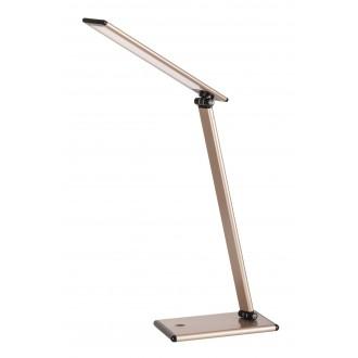 RABALUX 4180 | Brooke Rabalux asztali lámpa 46cm fényerőszabályzós érintőkapcsoló szabályozható fényerő, elforgatható alkatrészek 1x LED 480lm 3000K pezsgő