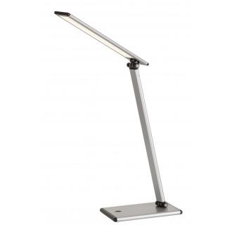 RABALUX 4182 | Brooke Rabalux asztali lámpa 46cm fényerőszabályzós érintőkapcsoló szabályozható fényerő, elforgatható alkatrészek 1x LED 480lm 3000K ezüst