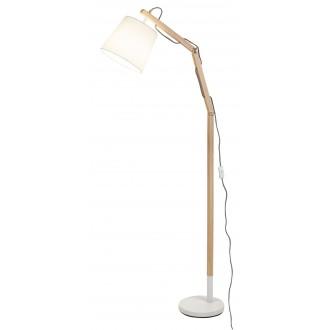 RABALUX 4192 | Thomas Rabalux álló lámpa 157cm vezeték kapcsoló elforgatható alkatrészek 1x E27 fehér, bükk