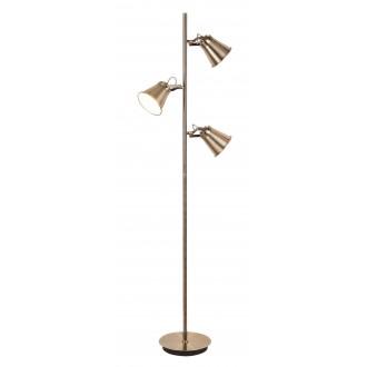 RABALUX 4194   Martina Rabalux álló lámpa 152,5cm vezeték kapcsoló elforgatható alkatrészek 3x E27 bronz