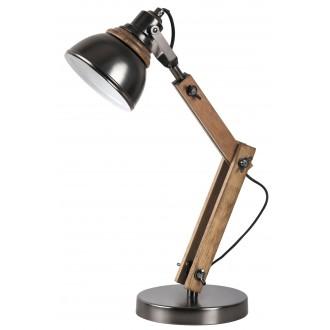 RABALUX 4199 | Aksel Rabalux asztali lámpa 47,5cm vezeték kapcsoló elforgatható alkatrészek 1x E14 bükk, fekete