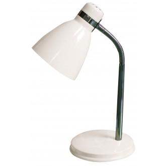 RABALUX 4205 | Patric Rabalux asztali lámpa 32cm vezeték kapcsoló flexibilis 1x E14 fehér, króm