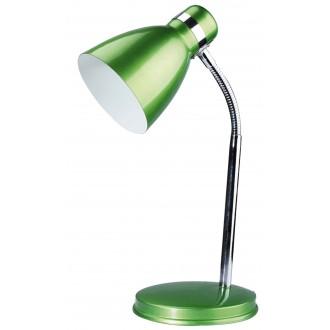 RABALUX 4208 | Patric Rabalux asztali lámpa 32cm vezeték kapcsoló flexibilis 1x E14 zöld, króm