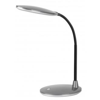 RABALUX 4297 | Oliver Rabalux asztali lámpa 38cm kapcsoló flexibilis 1x LED 350lm 6400K ezüst, fekete