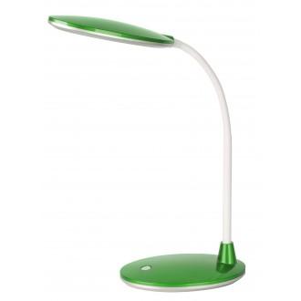 RABALUX 4300 | Oliver Rabalux asztali lámpa 38cm kapcsoló flexibilis 1x LED 350lm 6400K zöld, fehér