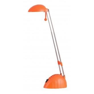RABALUX 4337 | Ronald Rabalux asztali lámpa 28cm kapcsoló elforgatható alkatrészek, állítható magasság 1x LED 350lm 6400K narancs, króm
