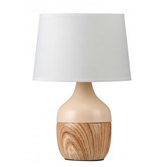 RABALUX 4370   YvetteR Rabalux asztali lámpa 29cm vezeték kapcsoló 1x E14 bézs, fehér