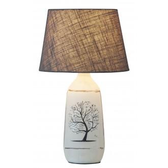 RABALUX 4374 | Dora Rabalux asztali lámpa 40cm vezeték kapcsoló 1x E27 fehér, szürke