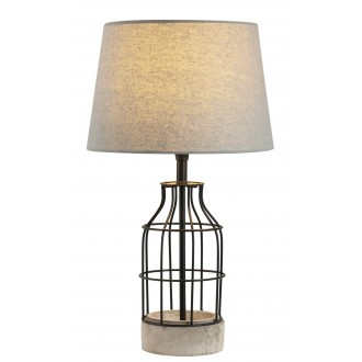 RABALUX 4385 | Ava Rabalux asztali lámpa 48cm vezeték kapcsoló 1x E27 beton, fekete