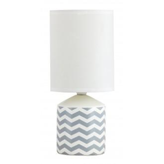 RABALUX 4397   SophieR Rabalux asztali lámpa 30cm vezeték kapcsoló 1x E14 fehér, minta