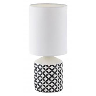 RABALUX 4398   SophieR Rabalux asztali lámpa 30cm vezeték kapcsoló 1x E14 fehér, minta