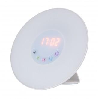 RABALUX 4423 | Rabalux-Smart-Penelope Rabalux dekor okos világítás fényerőszabályzós érintőkapcsoló ébresztőóra, hangszóró, FM rádió, színváltós, USB csatlakozó 1x LED + 1x LED fehér