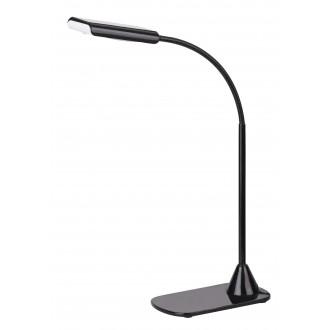 RABALUX 4447 | Edward Rabalux asztali lámpa 40cm kapcsoló flexibilis 1x LED 350lm 4500K fekete