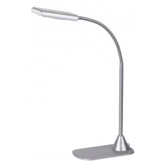 RABALUX 4448 | Edward Rabalux asztali lámpa 40cm kapcsoló flexibilis 1x LED 350lm 4500K ezüst