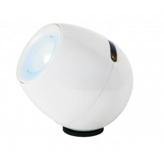 RABALUX 4450 | Cordelia Rabalux dekor lámpa érintőkapcsoló színváltós, USB csatlakozó 1x LED RGBK fehér, fekete