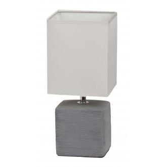 RABALUX 4458 | OrlandoR Rabalux asztali lámpa 33cm vezeték kapcsoló 1x E14 szürke, natúr