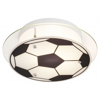 RABALUX 4466 | Frankie-Football Rabalux fali, mennyezeti lámpa 1x E27 króm, fekete, fehér