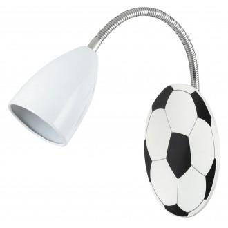 RABALUX 4467 | Frankie-Football Rabalux fali lámpa flexibilis 1x E14 króm, fekete, fehér
