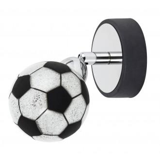 RABALUX 4471 | Frankie-Football Rabalux fali, mennyezeti lámpa elforgatható alkatrészek 1x G9 400lm 4000K króm, fekete, fehér