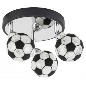 RABALUX 4473 | Frankie-Football Rabalux fali, mennyezeti lámpa elforgatható alkatrészek 3x G9 1200lm 4000K króm, fekete, fehér