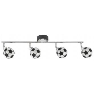 RABALUX 4474 | Frankie-Football Rabalux fali, mennyezeti lámpa elforgatható alkatrészek 4x G9 1600lm 4000K króm, fekete, fehér