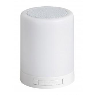 RABALUX 4534 | Rabalux-Smart-Kendall Rabalux asztali okos világítás 12,7cm fényerőszabályzós érintőkapcsoló hangszóró, szabályozható fényerő, színváltós 1x LED 60lm RGBK fehér