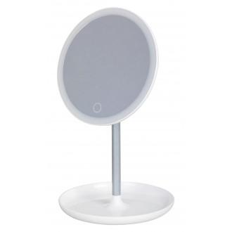 RABALUX 4539 | Misty Rabalux asztali lámpa 20,3cm érintőkapcsoló szabályozható fényerő, USB csatlakozó, elforgatható alkatrészek 1x LED 200lm 6000K fehér, tükör