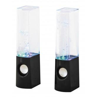 RABALUX 4540 | Xander Rabalux dekor lámpa hangszóró, színváltós, USB csatlakozó 1x LED RGBK fekete, átlátszó