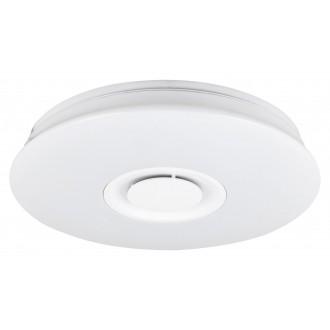 RABALUX 4541 | Murry Rabalux mennyezeti lámpa kerek távirányító hangszóró, szabályozható fényerő, színváltós, állítható színhőmérséklet 1x LED 1440lm + 1x LED 3000 <-> 6000K fehér