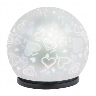 RABALUX 4551 | LailaR Rabalux dekor lámpa 1x LED 50lm 6500K fekete, króm, 3D effect