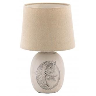 RABALUX 4605 | Dorka Rabalux asztali lámpa 29cm vezeték kapcsoló 1x E14 kék, fehér