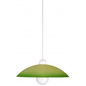 RABALUX 4756 | Tenor Rabalux függeszték lámpa 1x E27 zöld, fehér