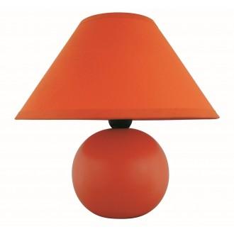 RABALUX 4904 | Ariel Rabalux asztali lámpa 19cm vezeték kapcsoló 1x E14 narancs