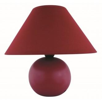 RABALUX 4906 | Ariel Rabalux asztali lámpa 19cm vezeték kapcsoló 1x E14 bordó