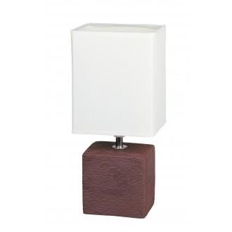 RABALUX 4928 | OrlandoR Rabalux asztali lámpa 30cm vezeték kapcsoló 1x E14 wenge, natúr