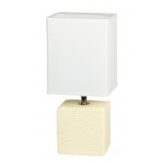 RABALUX 4929 | OrlandoR Rabalux asztali lámpa 30cm vezeték kapcsoló 1x E14 krémszín, natúr